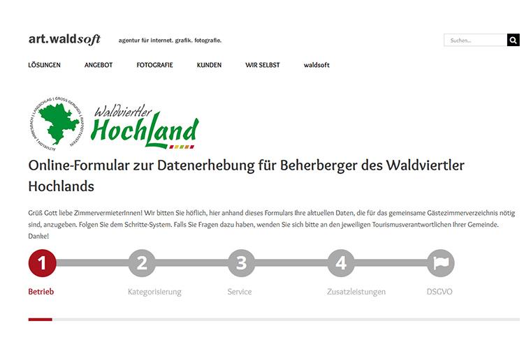 WV Hochland Gästezimmer Verzeichnis Online-Formular